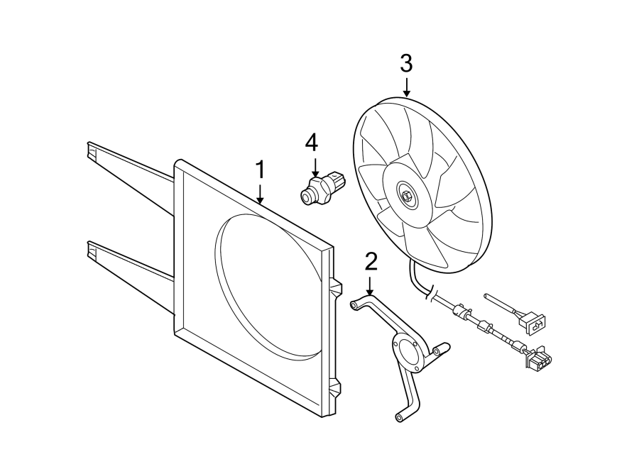 Volkswagen Beetle Convertible Engine Cooling Fan Motor ...