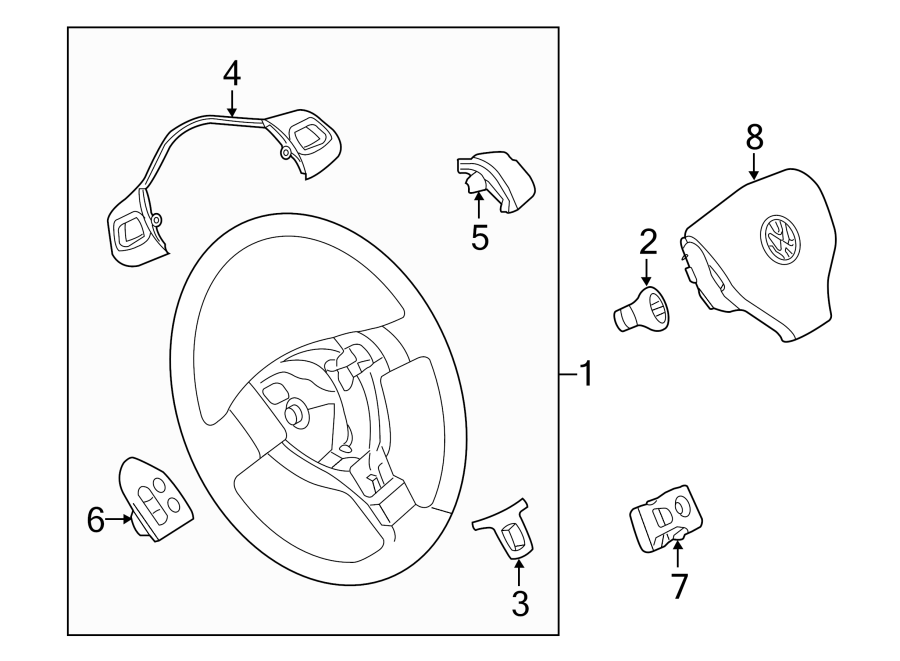 Volkswagen Gti Steering Wheel Radio Controls  Function
