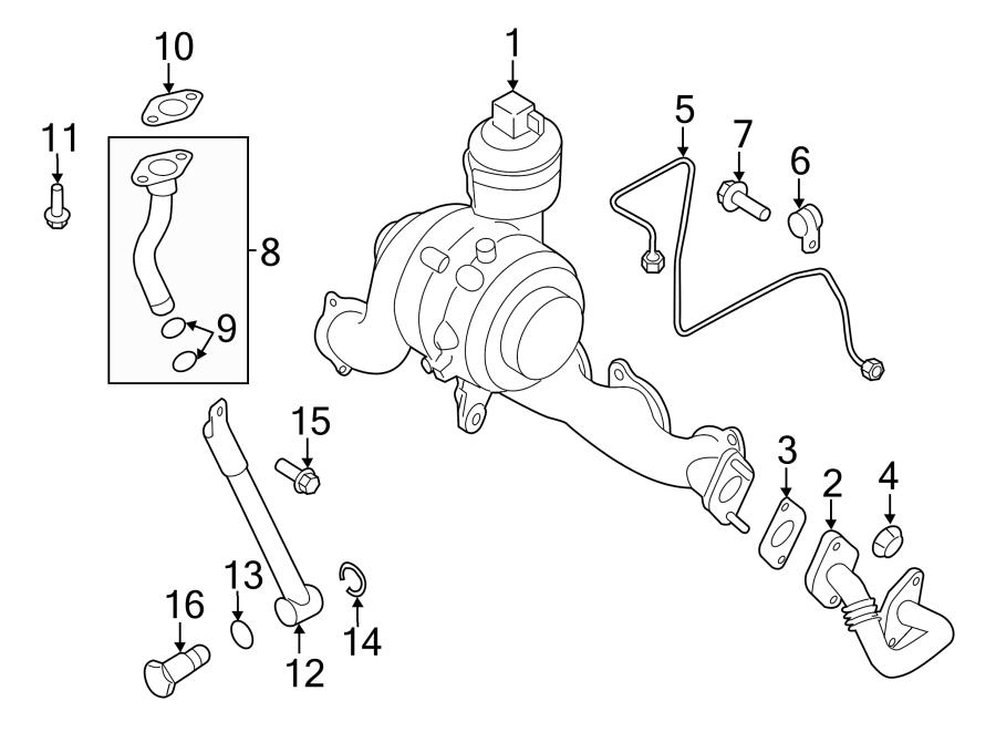 2011 Volkswagen Jetta Turbocharger Oil Line O-ring