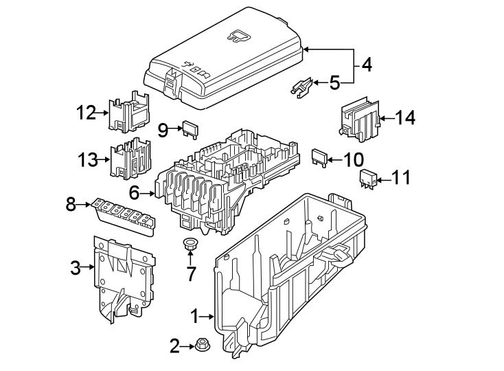 Volkswagen Jetta GLI Fuse Box Cover. EMGINE COMPARTMENT ...