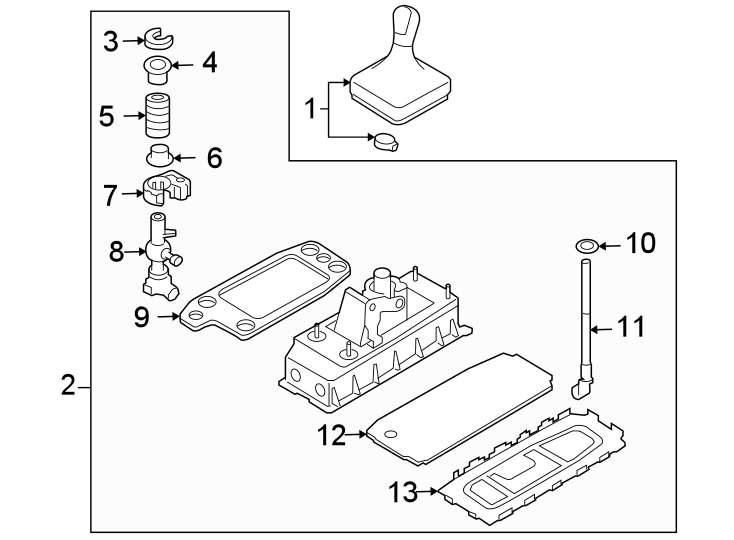 volkswagen eos manual transmission shift lever  shifter  assy  vin