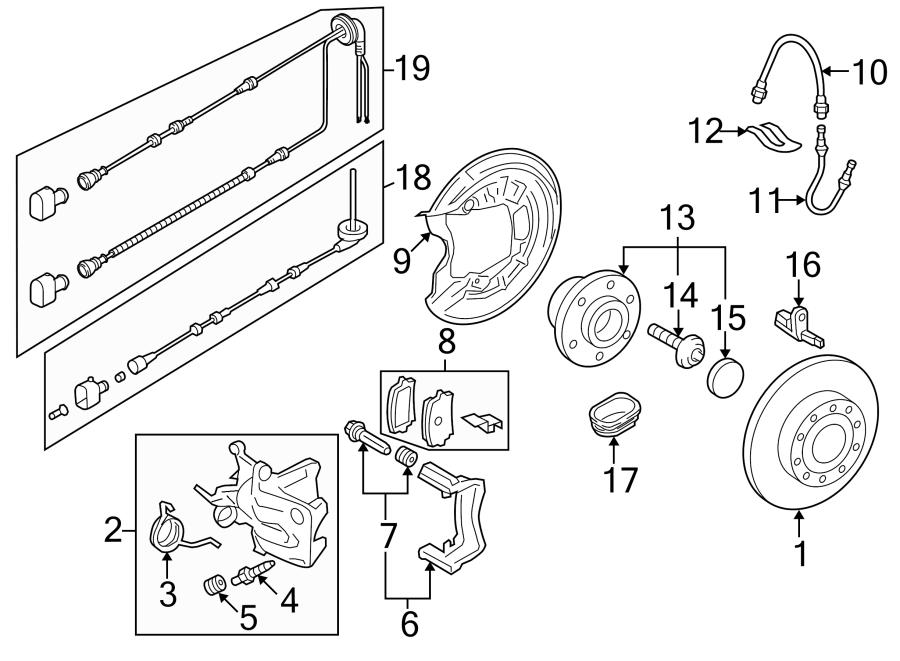 Volkswagen Eos Abs Wheel Speed Sensor Wiring Harness  W  O