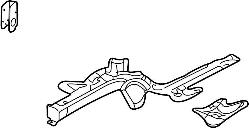 volkswagen jetta gli side memb  side rail assembly  w  o